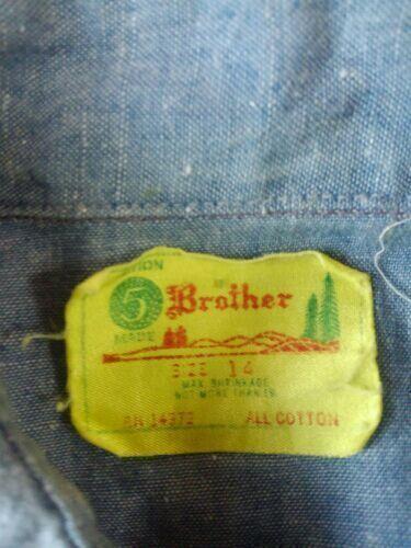 ファイブブラザー 70s シャンブレーワークシャツ